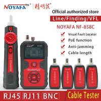 Cable Line Locator Portable Wire Tracker Cable Tester Finder Network Cable Testing RJ11 RJ45 BNC Cable Line NOYAFA NF-858C
