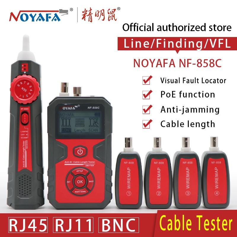Cavo di Linea Localizzatore Portatile Wire Tracker Cavo Tester Finder di Test Cavo di Rete RJ11 RJ45 BNC Linea in Cavo NOYAFA NF-858C