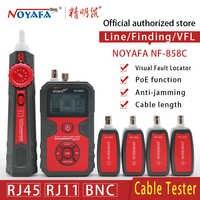 Localizador de línea de Cable rastreador de cables portátil probador de Cable buscador de red Cable de prueba RJ11 RJ45 BNC Cable línea NOYAFA NF-858C