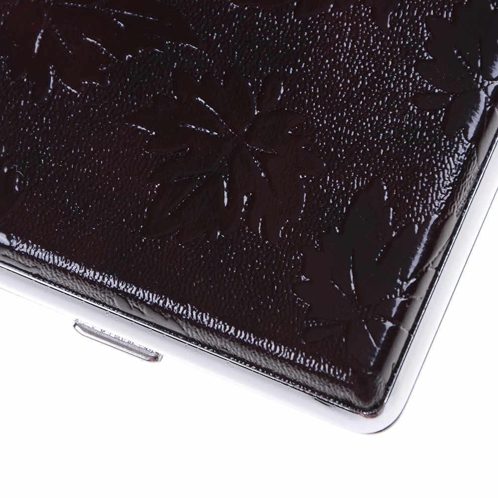 20 個革ポケットシガレットタバコケースボックスホルダー 9.6 センチメートル × 6.2 センチメートル × 1.8 センチメートル