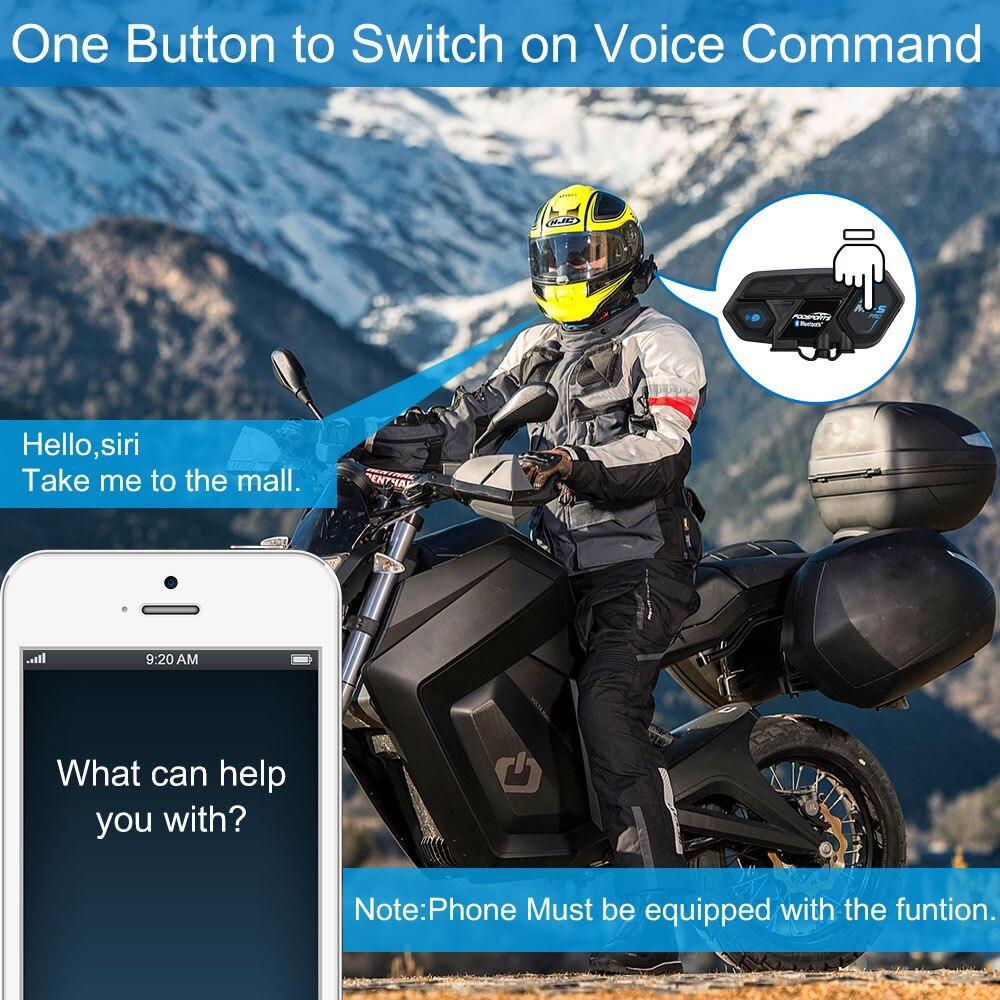 Fodsports M1 S Pro casco Intercomunicador auricular impermeable motocicleta Intercomunicador Bluetooth 8 Rider 1200M Intercomunicador - 4