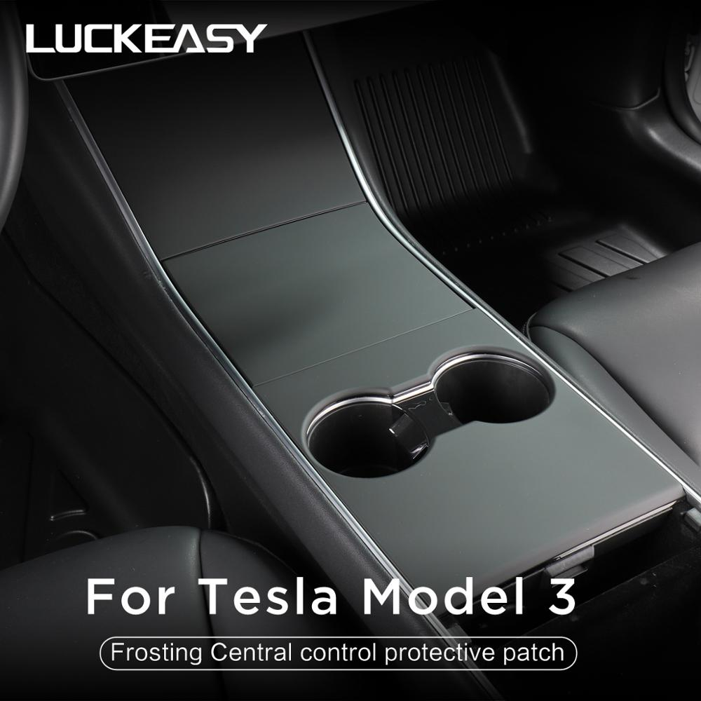 Protective-Patch Central-Control-Panel Tesla-Model LUCKEASY Car for Feels