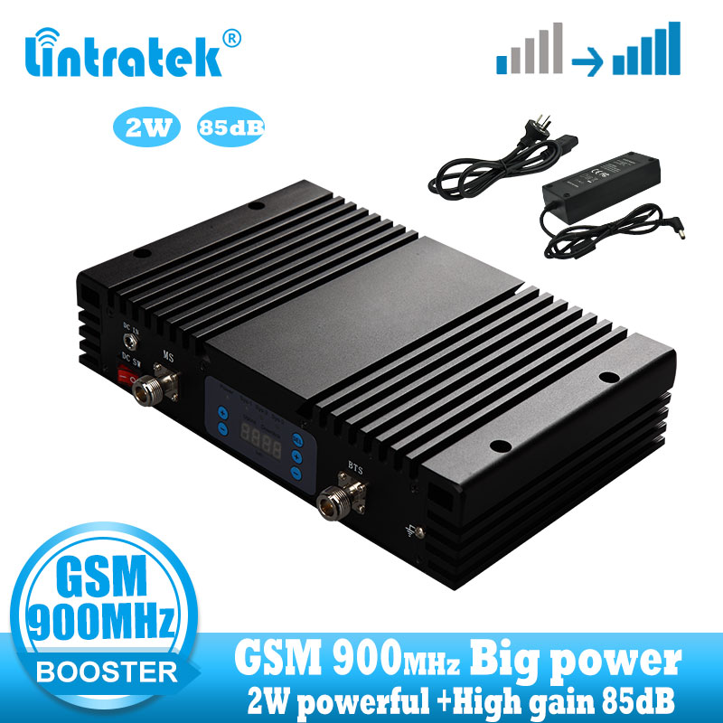 Lintratek 85dB High Gain GSM 900 Signal Booster 2G GSM 900mhz Signal Repeater Booster Call And Communication ALC MGC  Amplifier
