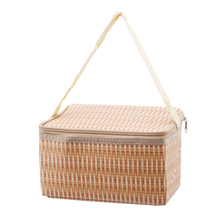 1Pcs Lunch Bag For Women Kids Men Plastic Thermal Weaving Cooler Insulated Box Totes Picnic Large Capacity