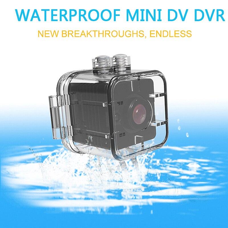 ABHU-Водонепроницаемая мини-камера SQ12 HD спортивная видеокамера ночного видения 1080P DV видео рекордер инфракрасная камера M