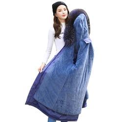 Parka vrouwelijke winter jas vrouwen grote plus size bontkraag capuchon warm dikker lange jas chaqueta mujer bovenkleding womens