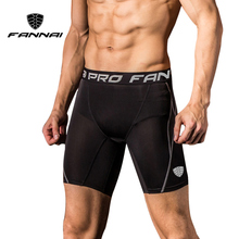 FANNAI Men Compression Shorts Running Shorts Sport Skinny Gym Fitness Short Pants Training Sports Shorts Slim Jogger mens compression shorts pockets skinny shorts male fitness bodybuilding men breeches muscle training short sports trousers homme
