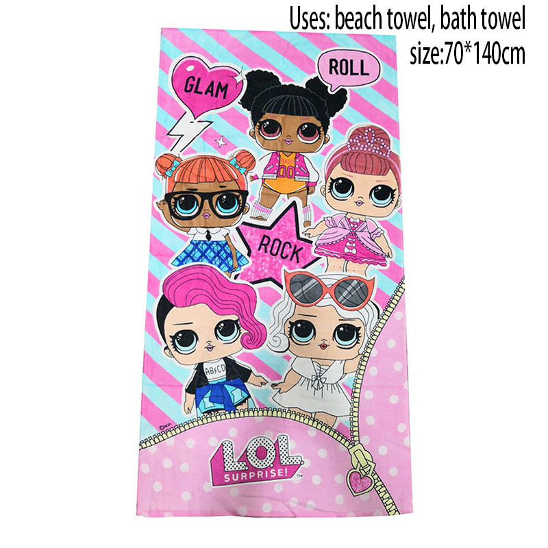 LOL Surprise Dolls Original Figura Bath Towel Bathing Supplies Beach Towel Traveling Girl Supplies Lol Dolls Daily Necessities