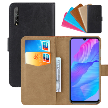 Luxury Wallet Case For Huawei P Smart S PU Leather Retro Flip Cover Magnetic Fashion Cases Strap