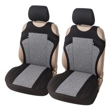 цена на 2pcs Universal Car Seat Covers-Front Seat Covers Cationic Fabric Mesh Sponge Interior Accessories Styling Car Seat Protector