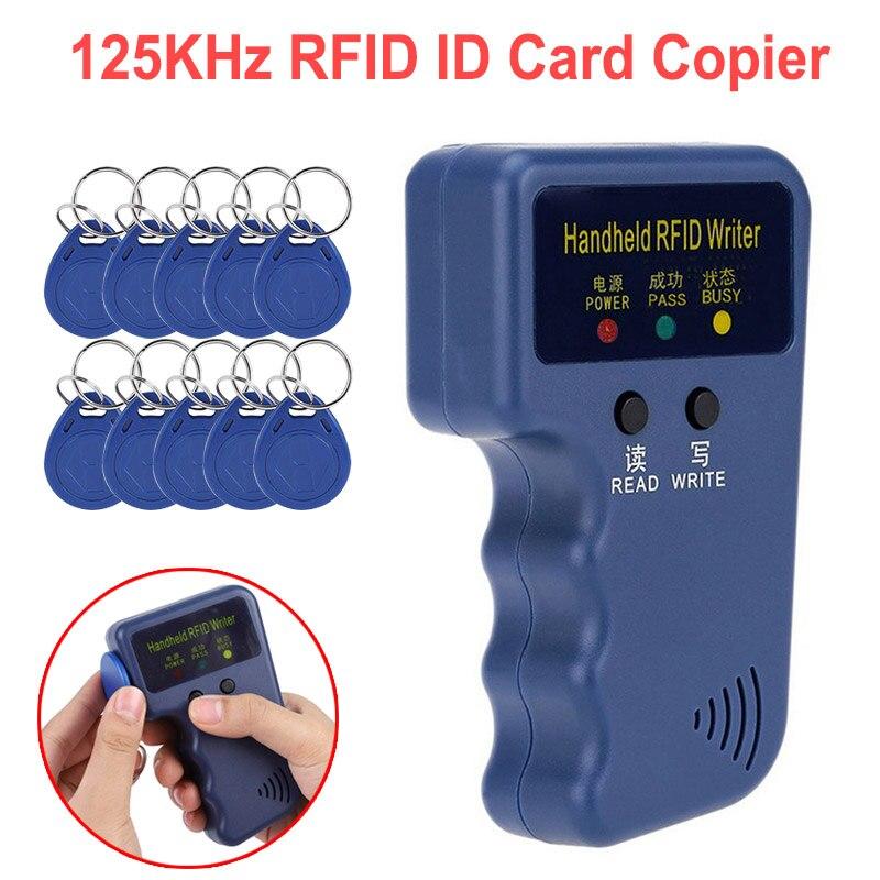 125KHz RFID Kopierer Writer Duplizierer Programmer Reader T5577 EM4305 5200 Wiederbeschreibbare RF Control Karte Leser ID Tags Karte