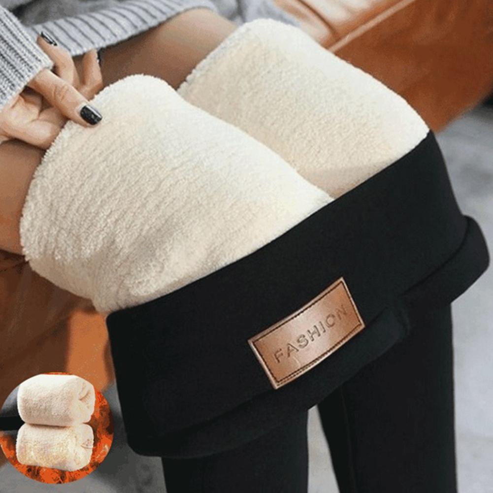 Women Leggings Winter Pants Warm Thick Fleece Lined Leggings High Waist Trousers Stretch Skinny Pants Leggings Ladies Pants