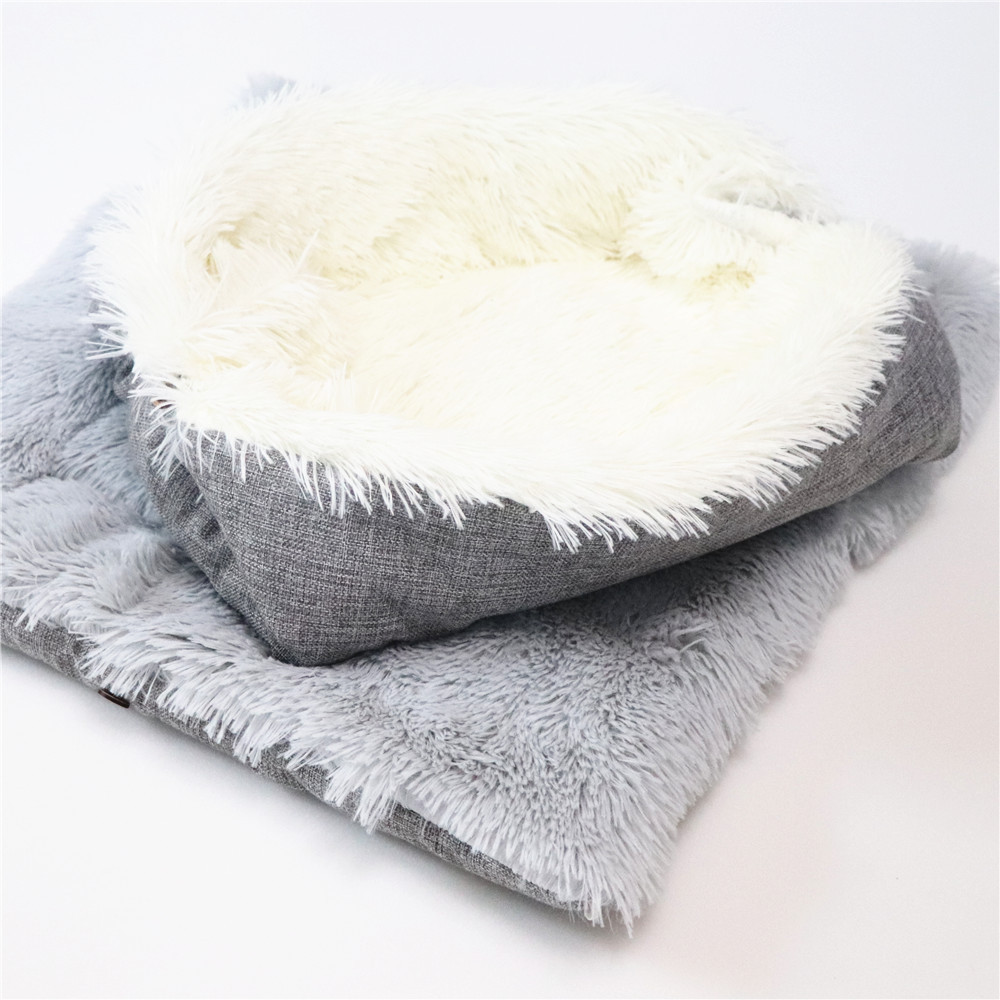 New Soft Cat Bed Rest Dog Blanket Winter Foldable Double use of pet bed matCushion Hondenmand Plush Soft Warm Sleep Mat 8