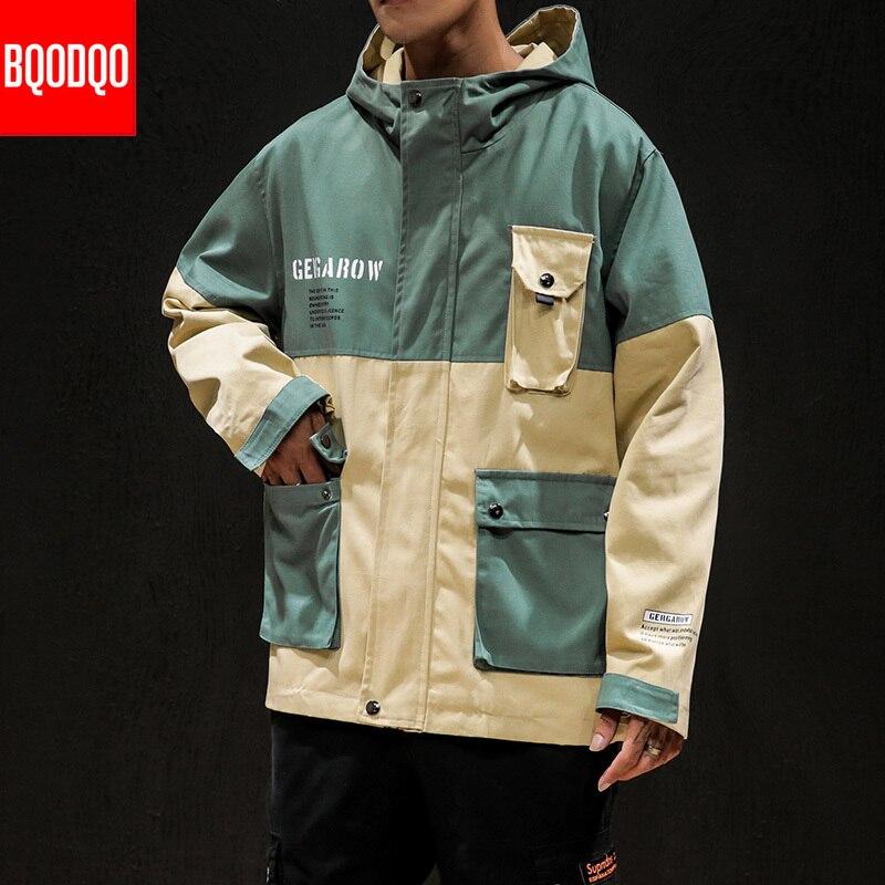 Mens Loose Hip Hop Jacket Floral Multi Color Coat Hood Fashion Outwear Jacket
