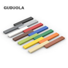 Guduola Building Block Parts 6636 Tile 1x6 MOC Small Particle Special Brick Plate Toys for Kid 50pcs/lot