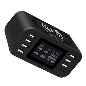 Image 3 - STOD Qi Беспроводное зарядное устройство 10 Вт usb type C PD 18 Вт быстрая зарядная станция 60 Вт светодиодный дисплей для 11 Pro XR XS MAX X 8 Plus Samsung S9 S8 Pixel 3XL 3 NEXUS 6P Nokia Mi Mix USB C адаптер