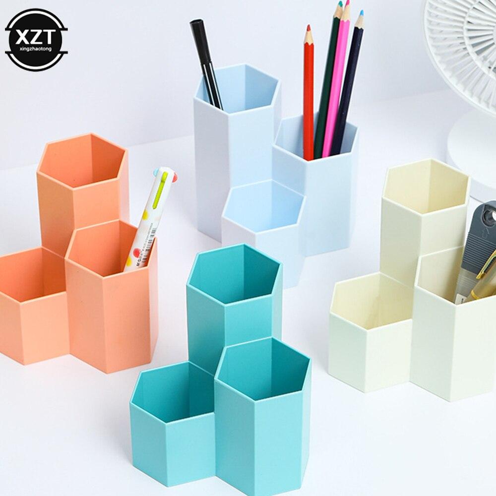 Kawaii Große Kapazität Schreibtisch Stift Halter Bleistift Make-Up Lagerung Box Desktop Organizer Stand Fall Schule Büro Schreibwaren