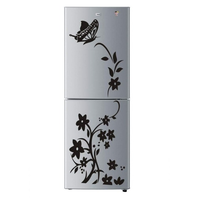 Creative butterfly flower refrigerator wallpaper home decoration mural DIY art decal children's room kitchen sticker 5