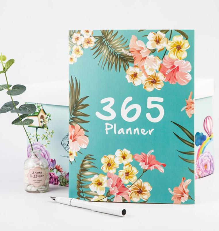 A4 Big 365 Self-filling Kawaii 2020 Planner Notebook 12 Month Agenda Chinese Planner Office School Supplies 365 Planner