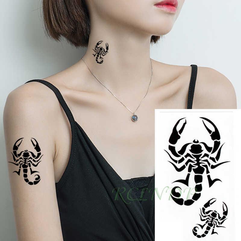 Waterdichte Tijdelijke Tattoo Sticker scorpion vogel kleine Tatto Flash Tatoo Fake Tattoos Hand Been Arm voor Kinderen Mannen Vrouwen kind