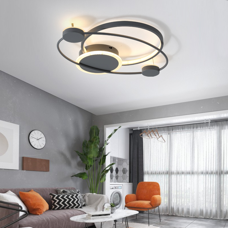 Nordic simples conduziu a luz de teto acrílico moderno sala estar quente romântico luminária quarto cabeceira controle remoto nova lâmpada do teto