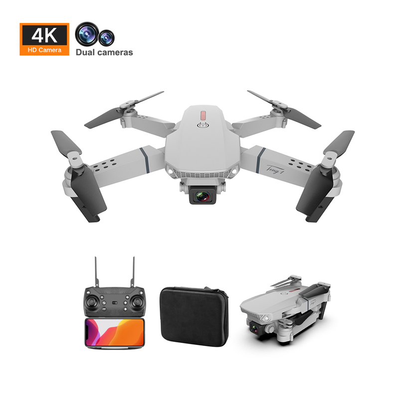 Drones 4k GPS WiFi FPV Profesional HD 1080p With wide-angle Camera Drone RC Quadcopter Kit Kids Toys Gift Dron E88 pro