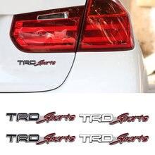 2x автомобильный Стайлинг trd Логотип 3d гонка металлическая