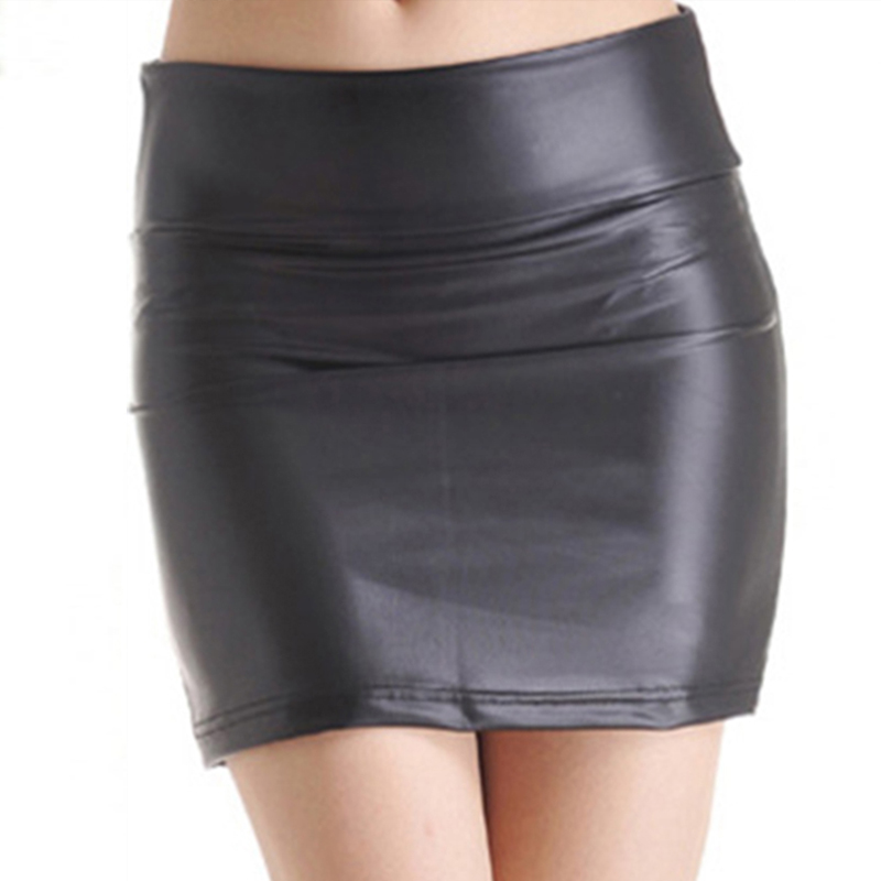 New Fashion Sexy Women Mini Skirt Solid Faux PU Leather Plus Size 3XL Skirts Pencil High Waist Bodycon Short Skirt Femme
