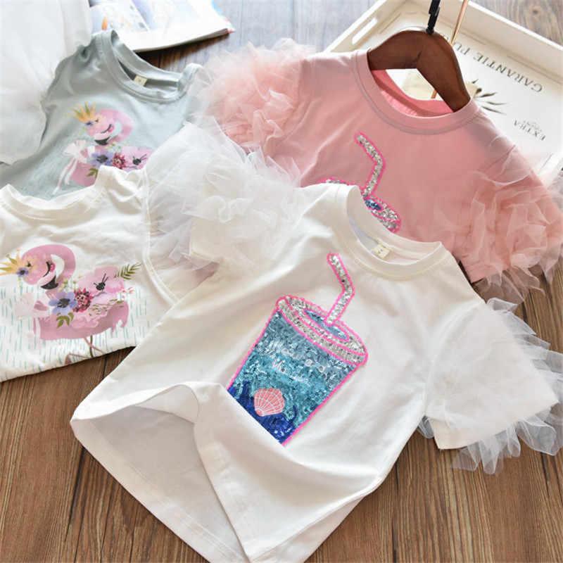 2020 3 5 6 7 8 anni Unicorn Ragazze T-Shirt Dei Ragazzi Manica Corta Tee Magliette E Camicette Per Bambini Stampa Del Fumetto Dei Vestiti Dei Bambini festa di compleanno di Usura