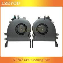 Portátil original a1707 cpu ventilador de refrigeração para macbook pro retina 15
