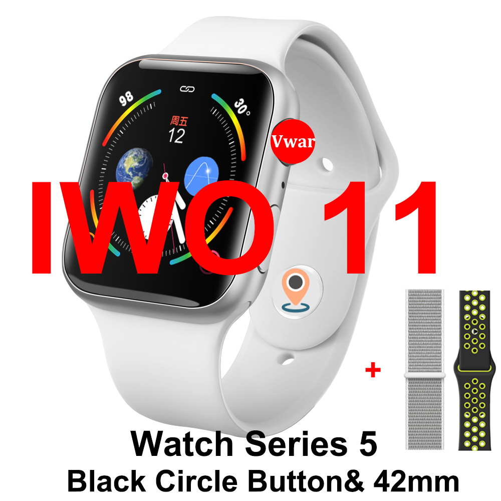 IWO 11 GPS Bluetooth Smart Watch Series 5 1:1 SmartWatch 42mm Case for Apple iOS Android Heart Rate Blood Pressure VS IWO 8 9 10 image