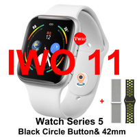 IWO 11 GPS Bluetooth Smart Watch Series 5 1:1 SmartWatch 42mm Case for Apple iOS Android Heart Rate Blood Pressure VS IWO 8 9 10