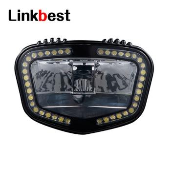 Linkbest 2000 lumen ebike light, day running light, powered by 49leds, high beam and low beam for ebike/pedelecs 12V-58V