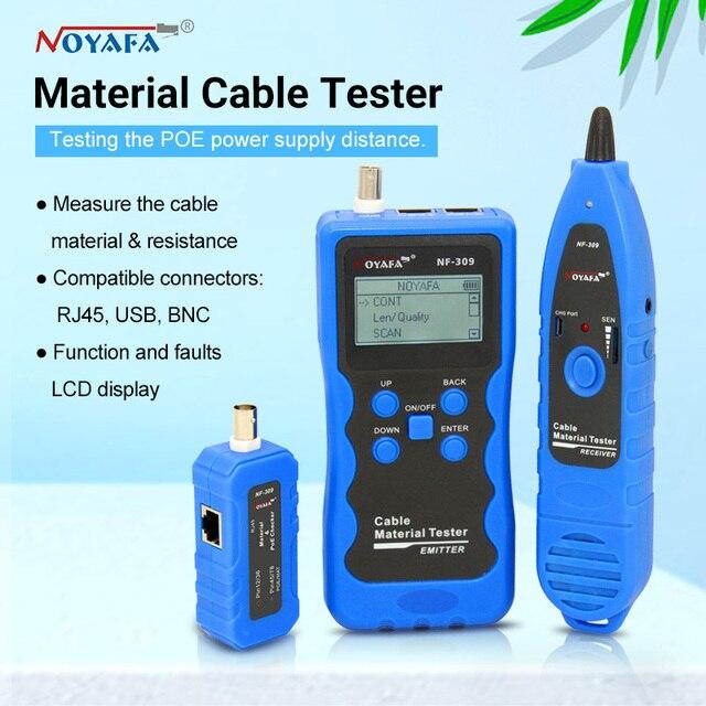 NF 309 testeur de câble matériel/longueur testeur localisateur de fil testeur de POE testeur de câble matériel avec batterie au lithium