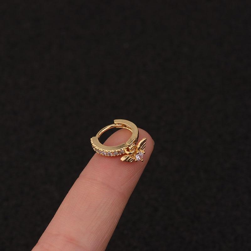 Cz Heart Star Moon Crown Cross Flower Ear Stud Tragus Cartilage Conch Earring Stud Cartilage Piercing Helix Jewelry