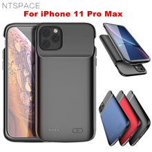 NTSPACE 5000mAh Battery Cases For iPhone 11 Pro Max Power Case Extenal Bank Liquid Silicone Shockproof Cover