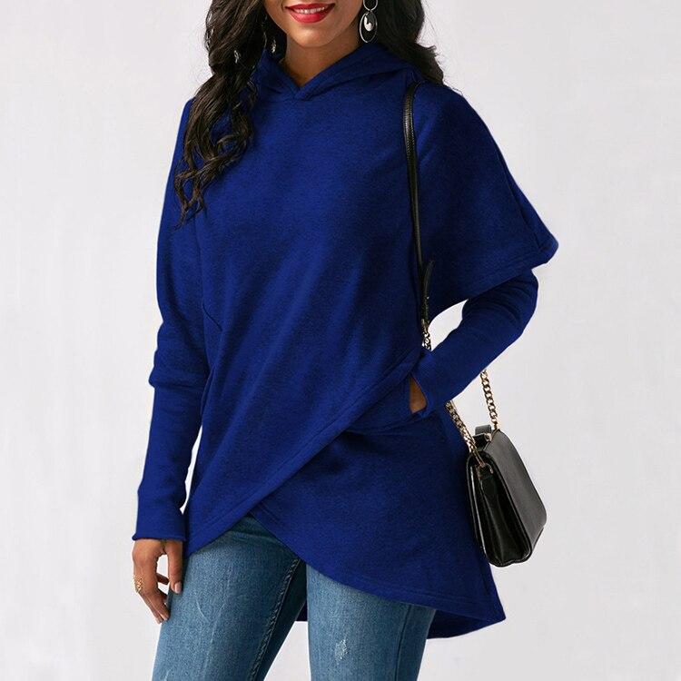 Women Hoodies Sweatshirts Autumn Winter Long Sleeve Pocket Pullover Hoodie 29