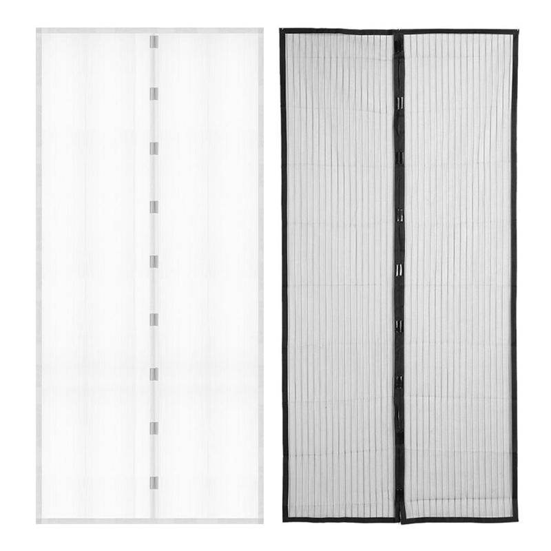 Hand Free Door Curtain Anti Mosquito Tulle Magnetic Mosquito Net Door Screen Net Fly Bug Mesh Insect Netting Magnets 1 Pair