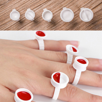Disposable 100pcs Tattoo Ink Rings Cups S/M/L Permanent Makeup Pigment Holder Eyebrow Eyelash Extension Glue Divider Container