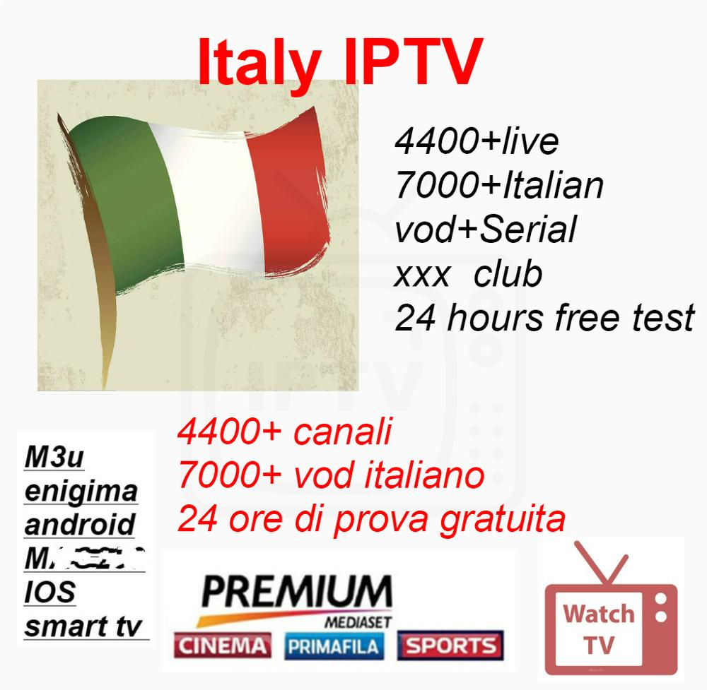4000+ Italien/italy IPTV Live 7000+ Italy Vod/series And Europn Iptv Spain French IPTV Subscription Live Channel Free Vod Sports
