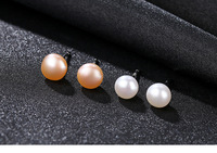 S925 sterling silver female natural freshwater pearl high end fashion earrings MGB26