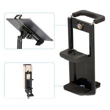 2In1 Tripod Mount Phone Tablet Holder Clip for iPhone Cellph