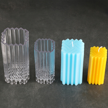 DIY square weave pattern candle mold two size striped increative candle moulds moule bougie candel making mould factory lz62 diamond pattern candle cover