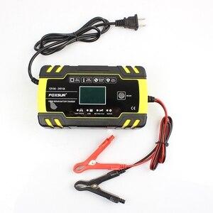 Image 5 - Nowy foxsur 12V 8A 24V 4A ładowarka do naprawy impulsów z wyświetlaczem Lcd, motocykl i ładowarka samochodowa, 12V 24V Agm żel mokry kwas ołowiowy