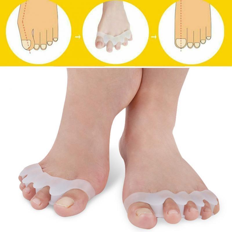 1 Pair Toe Straightener Silicone Toe Separator Corrector Foot Care Gel Bunion Protector Hallux Valgus Correction