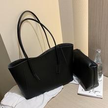 Luxury Designer Leather Composite Bag High Capacity Shoulder Bags Solid Color Totes Handbags Simple Bucket Package Underarm Bags
