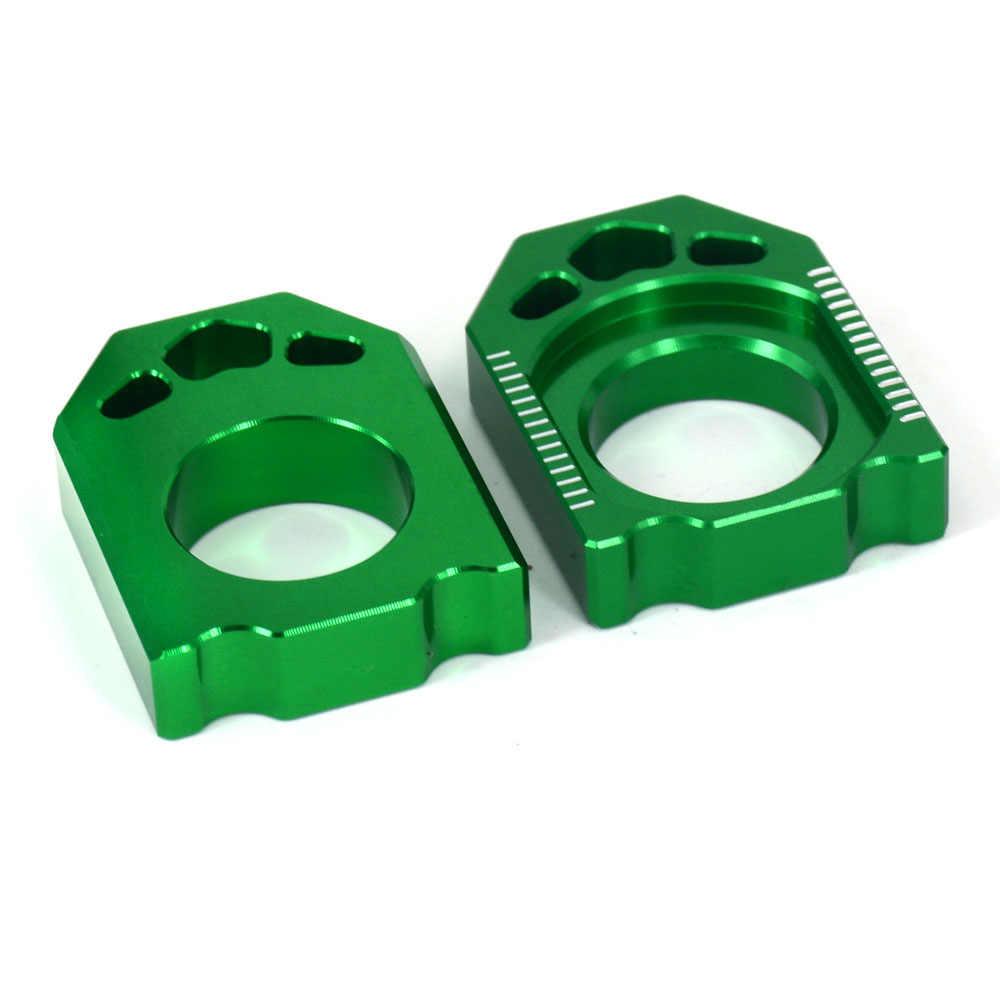Axle Block Chain Adjuster Set For Kawasaki KX125 KX250 KX250F KX450F KLX450R