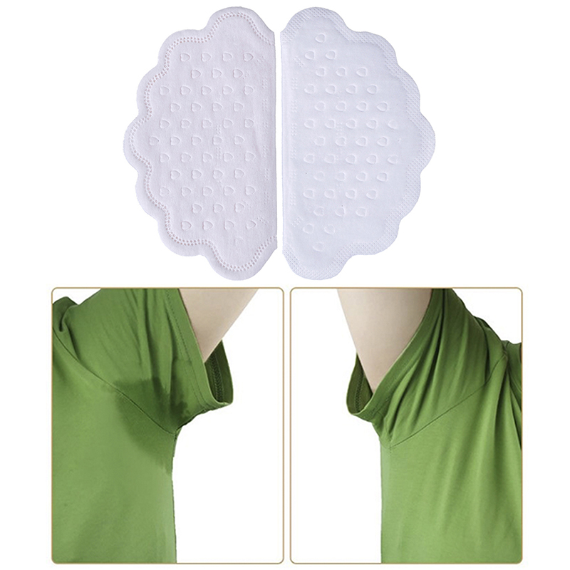 40Pcs/box Disposable Underarm Sweat Pads For Clothing Anti Sweat Armpit Absorbent Pads Summer Deodorants Shield Stickers