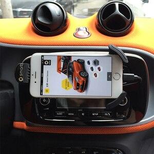 Image 3 - Suporte inteligente de telemóvel, 453 fortwo 453 360 forquatro rotação suporte de telefone móvel montagem do ventilador do carro gps suporte do telefone móvel