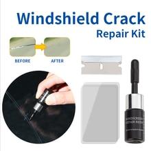 1 Juego de herramienta de reparación de parabrisas para coche, bricolaje, herramienta de reparación de ventanas de coche, pegamento de curado de vidrio, parabrisas automático para arañazos de cristal, Kit de restauración de grietas